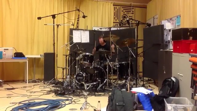 Mike drumming for new album - Within Temptation