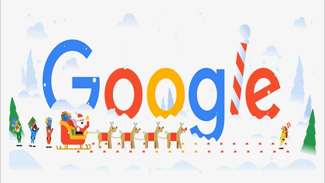 Весели празници (Happy Holidays 2018 Google Doodle) We Wish You a Merry Christmas