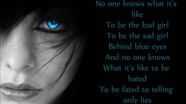 Within Temptation - Behind Blue Eyes (lyrics)