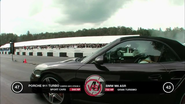 Bmw M6 Evotech vs Porsche 911 Turbo
