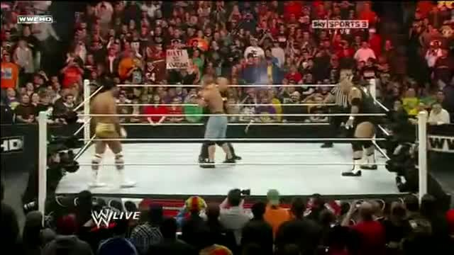 The Miz Rock Bottom on John Cena